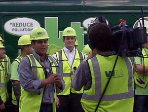 Ruben with Waste Management Staff